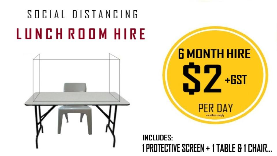 Workplace Lunchroom Hire