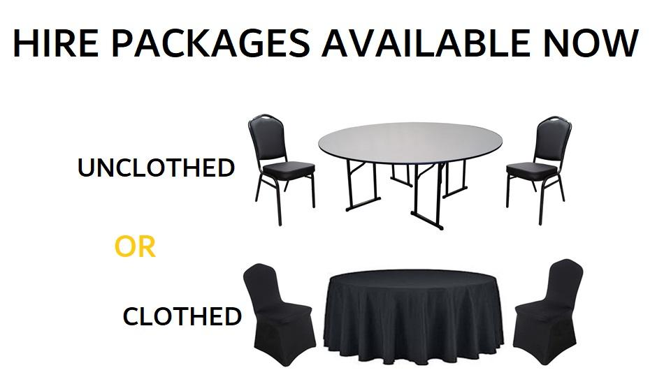 BANQUET FURNITURE HIRE PACKAGES
