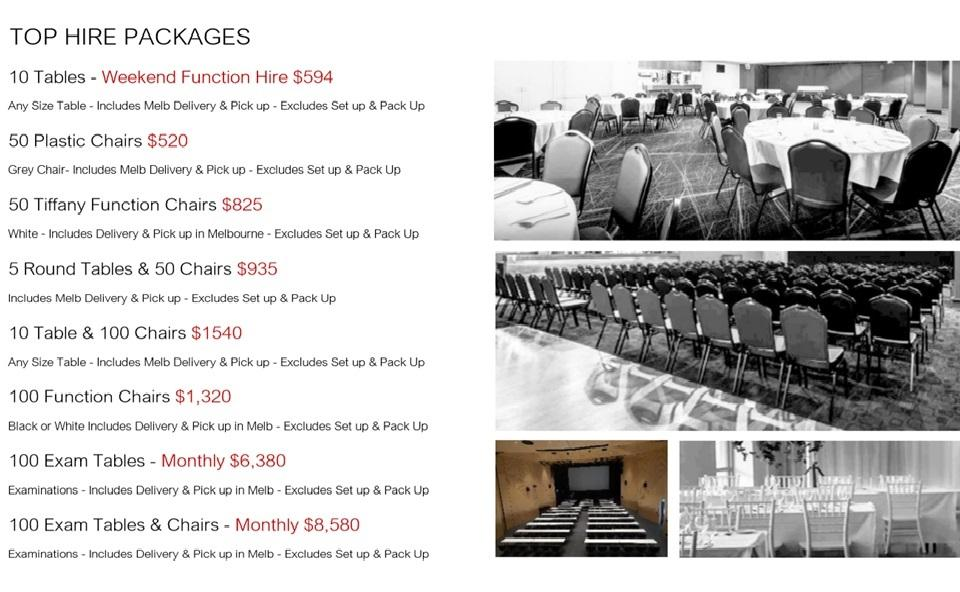 Top Hire Packages