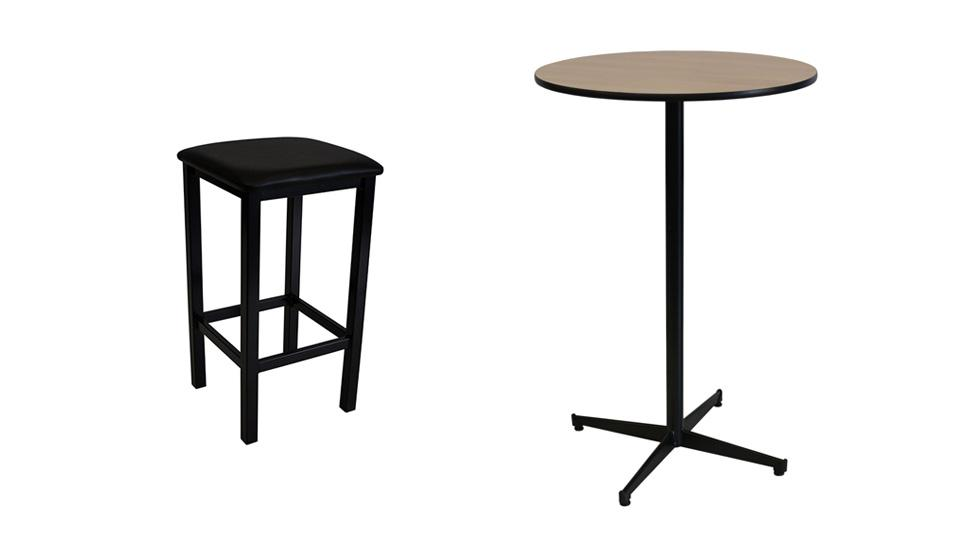 Single Bar Tree Table + 4 x Deluxe Bar Stools