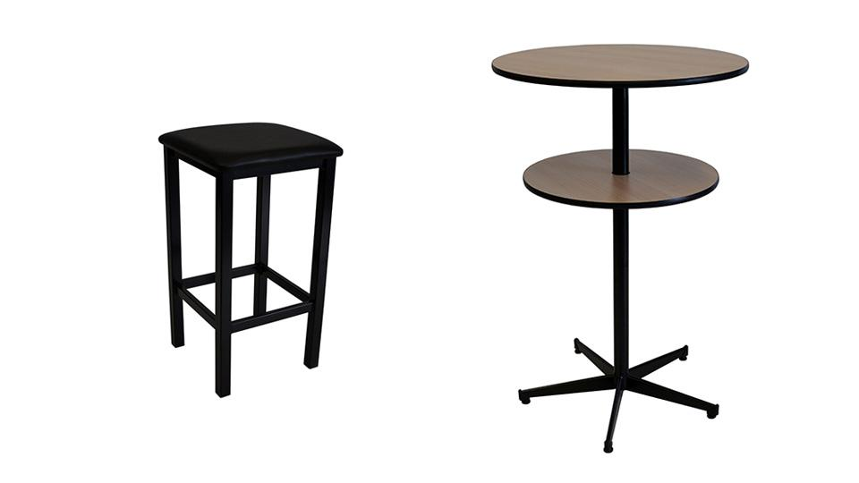 Twin Bar tree Table + 4 x Deluxe Bar Stools