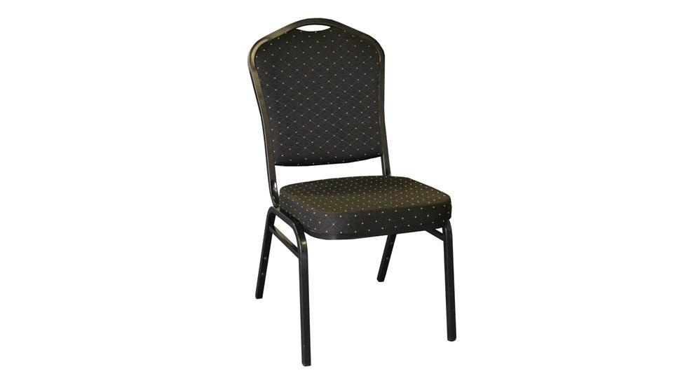 Stackable Chair - Fabric (Black)