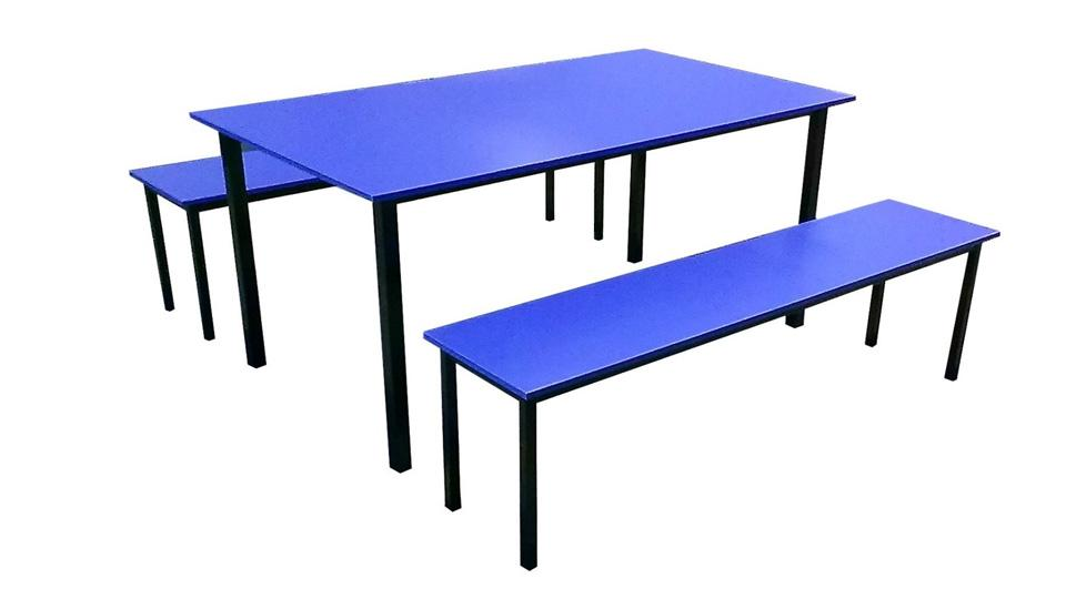 Kid's Table + Bench Set (Blue)