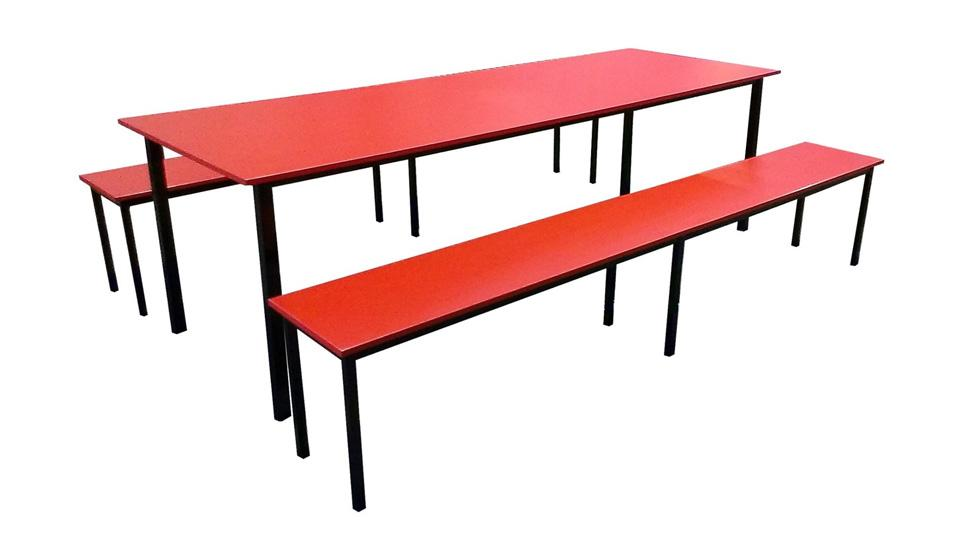 Kid's Table + Bench Set (Red)