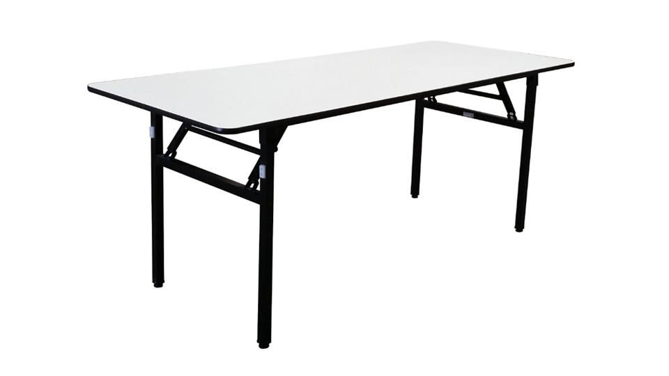 The Deluxe - Long Folding Table (White)